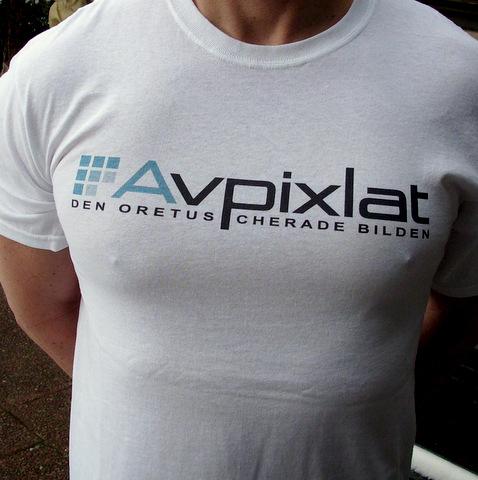 Avpixlat T-shirt (Vit)